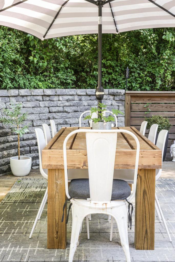 easy diy outdoor dining table