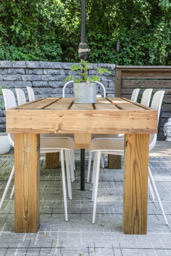 easy diy patio dining table