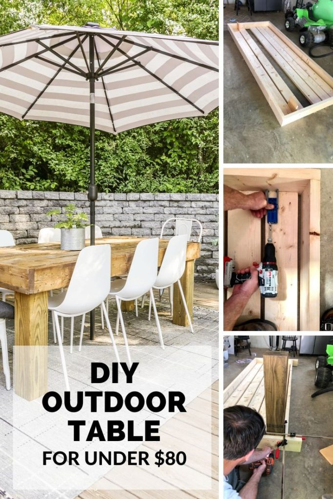 simple tutorial for a diy outdoor dining table