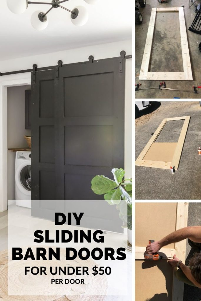 how to build sliding barn doors for a closet