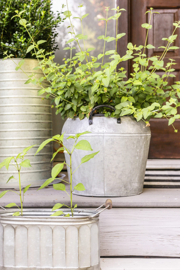 diy galvanized metal container garden