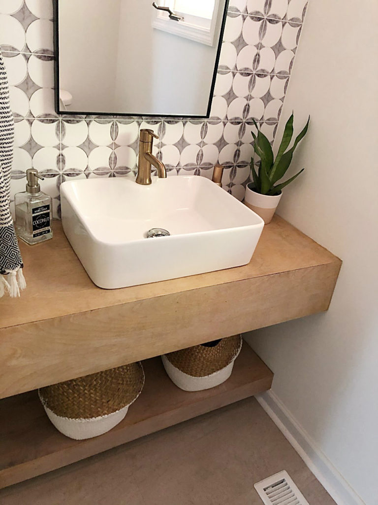 an honest review of my diy wood vanity