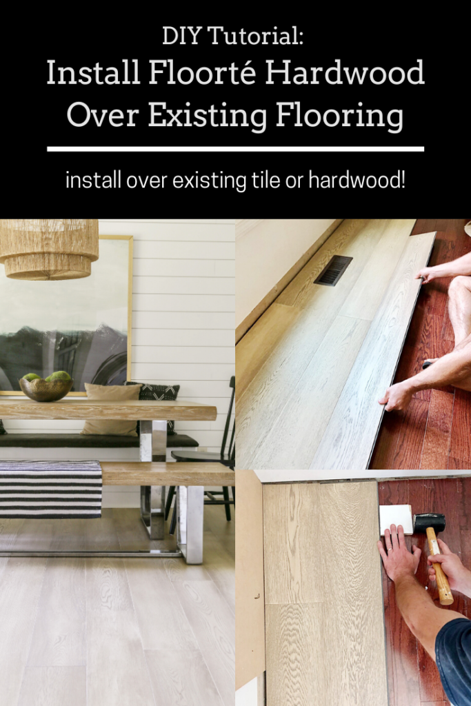 diy tutorial for floating hardwood flooring