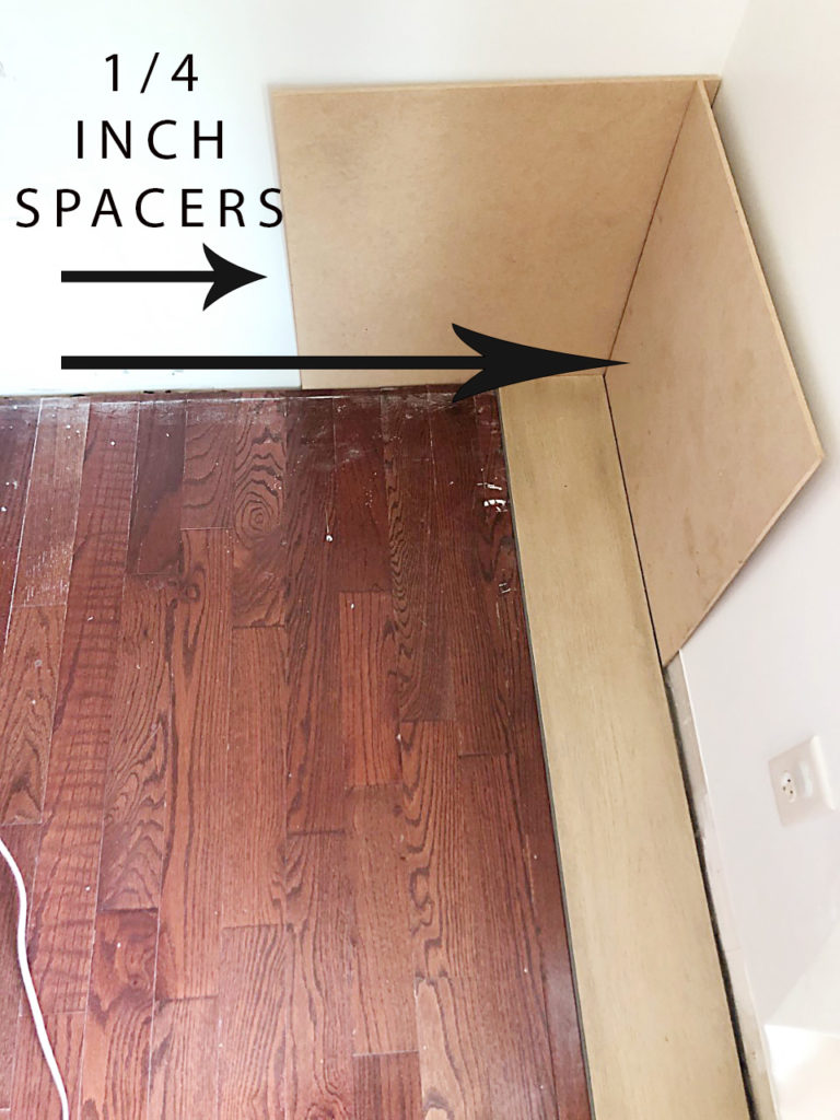 how to install hardwood planks over existing flooring