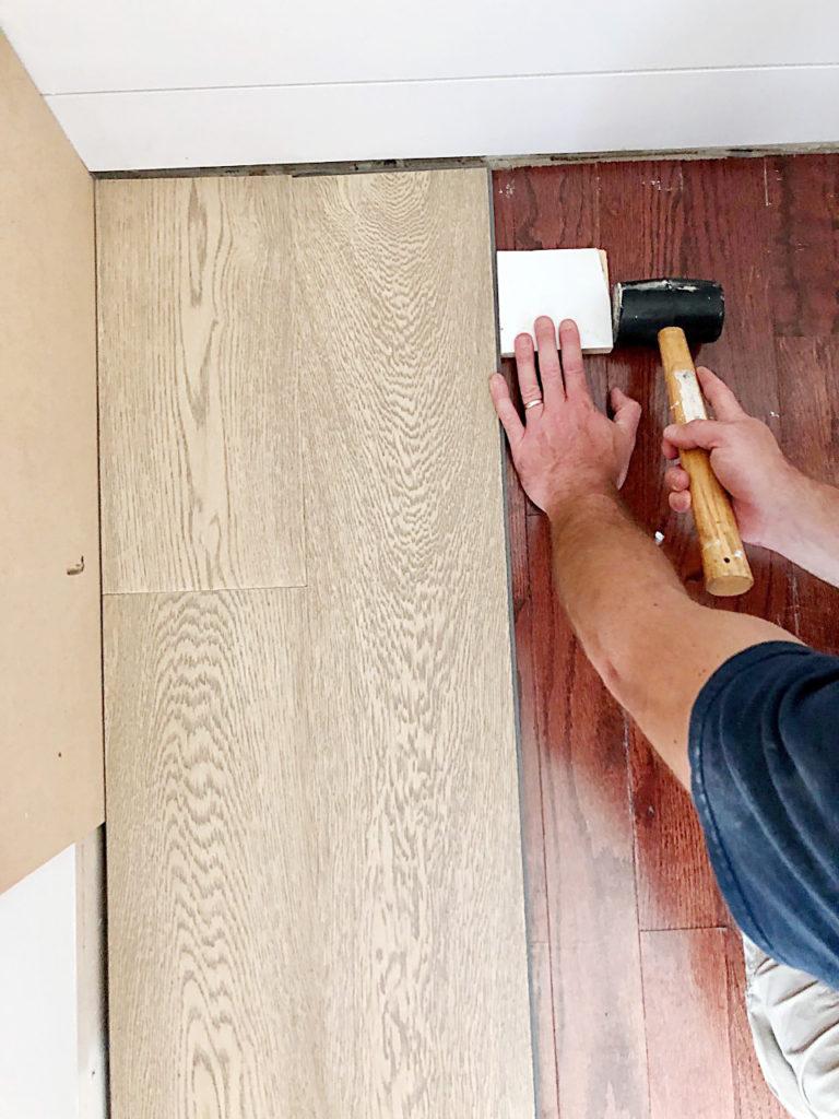 floating hardwood planks over existing wood floors