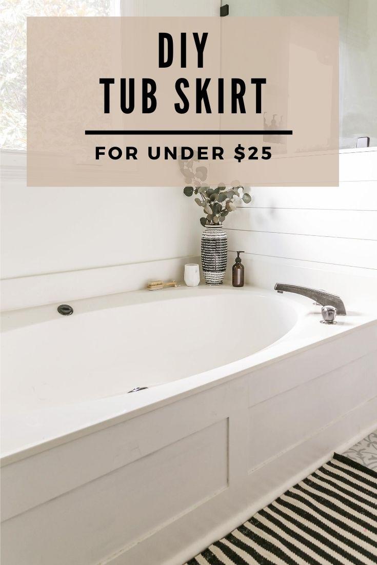 Diy Bath Tub Skirt For Under 25