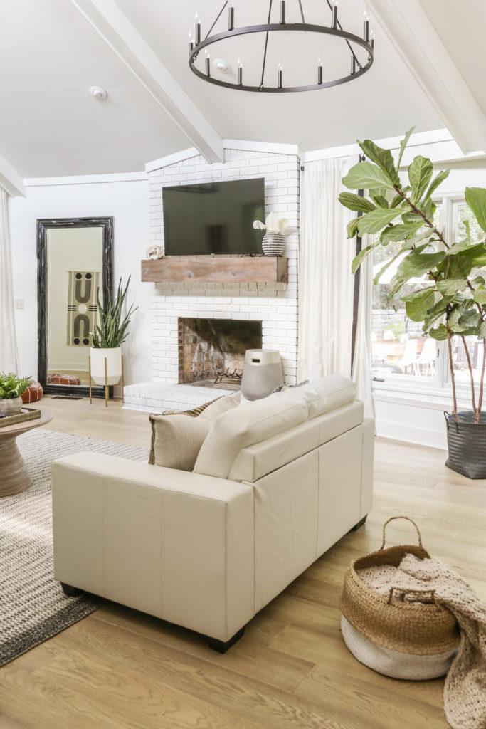 earthy modern living room
