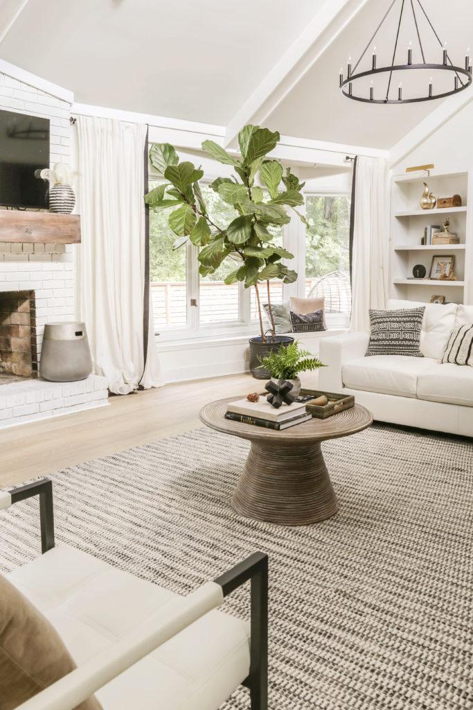 neutral boho modern living room decor
