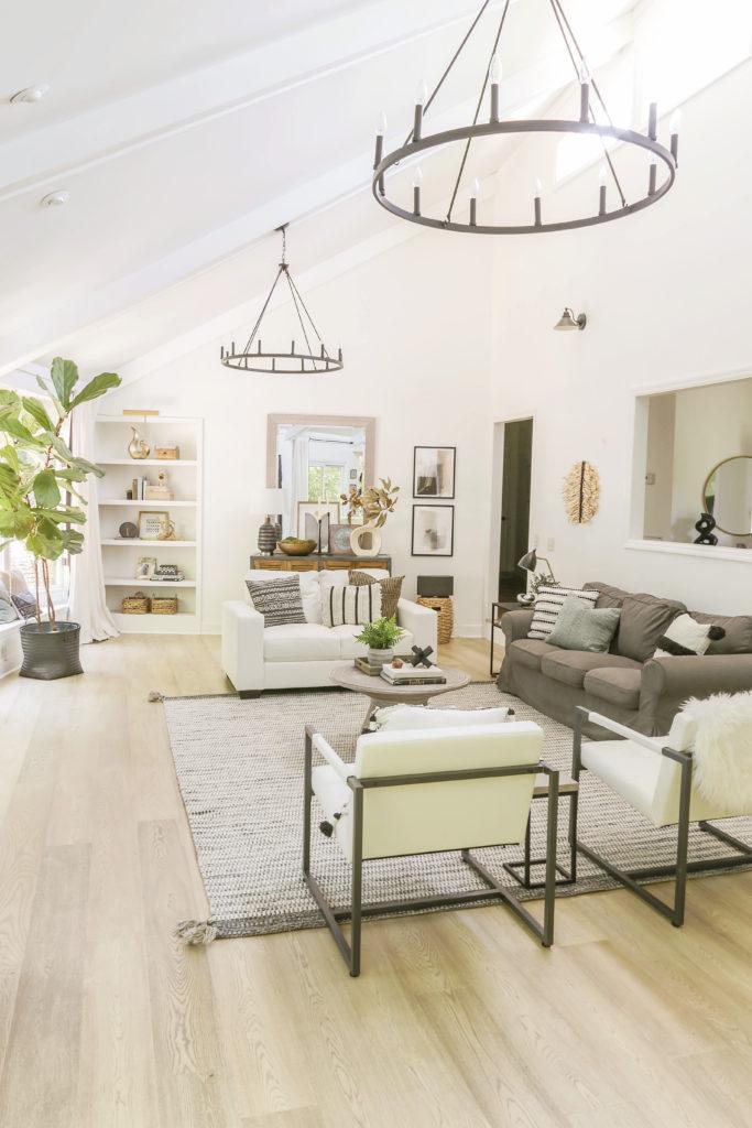 reveal of neutral modern living room