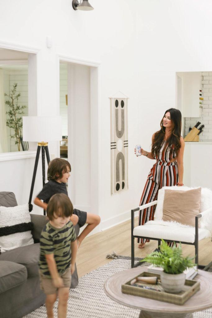 erica van slyke of designing vibes living room tour