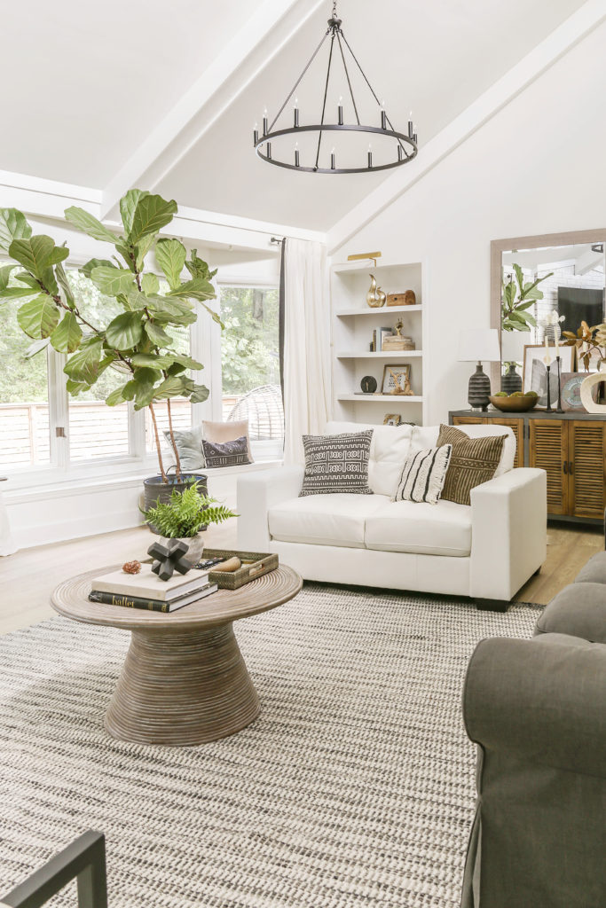 neutral modern living room reveal