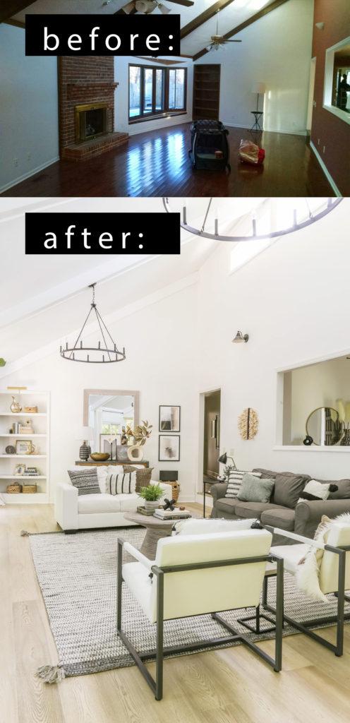 boho farmhouse living room makeover