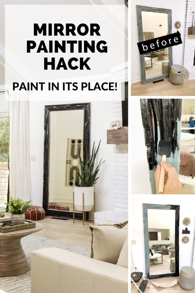 easiest way to paint a heavy mirror
