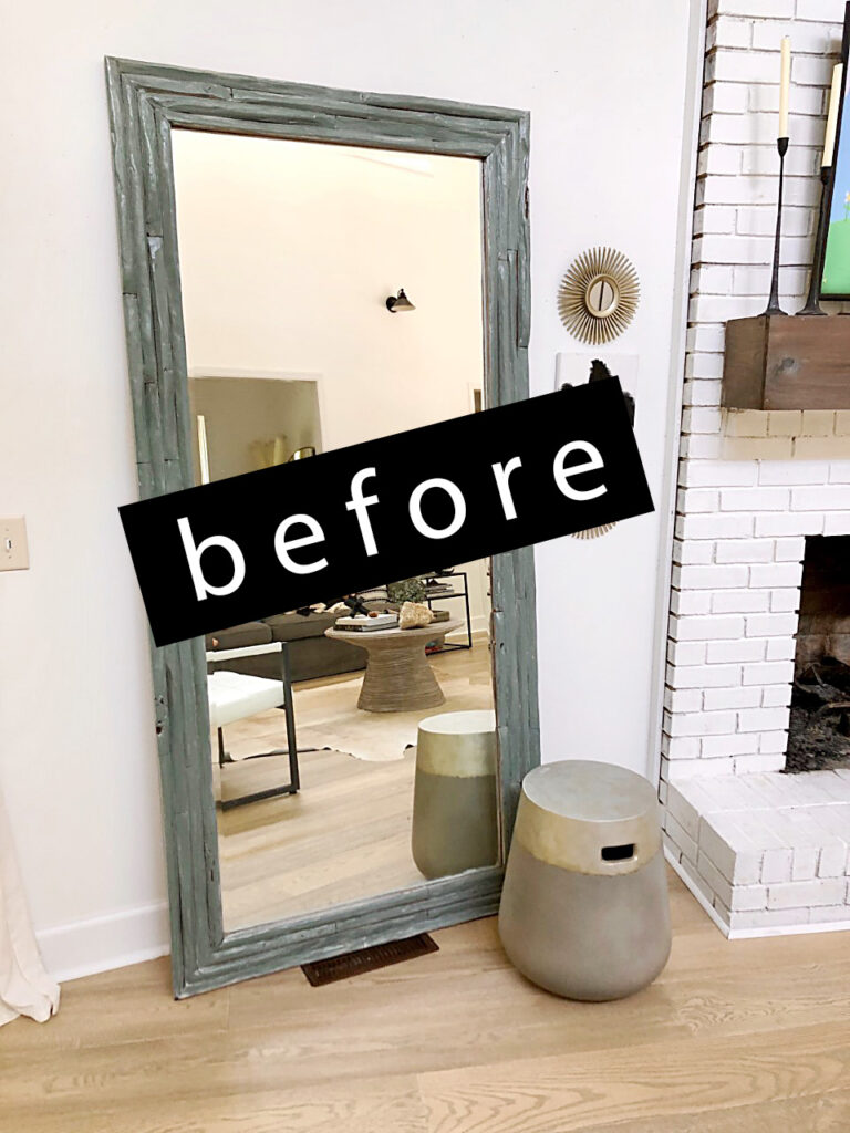 how to paint a mirror without moving it