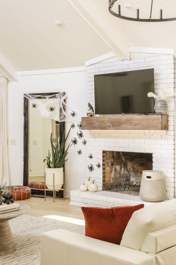 modern farmhouse halloween ideas for living room