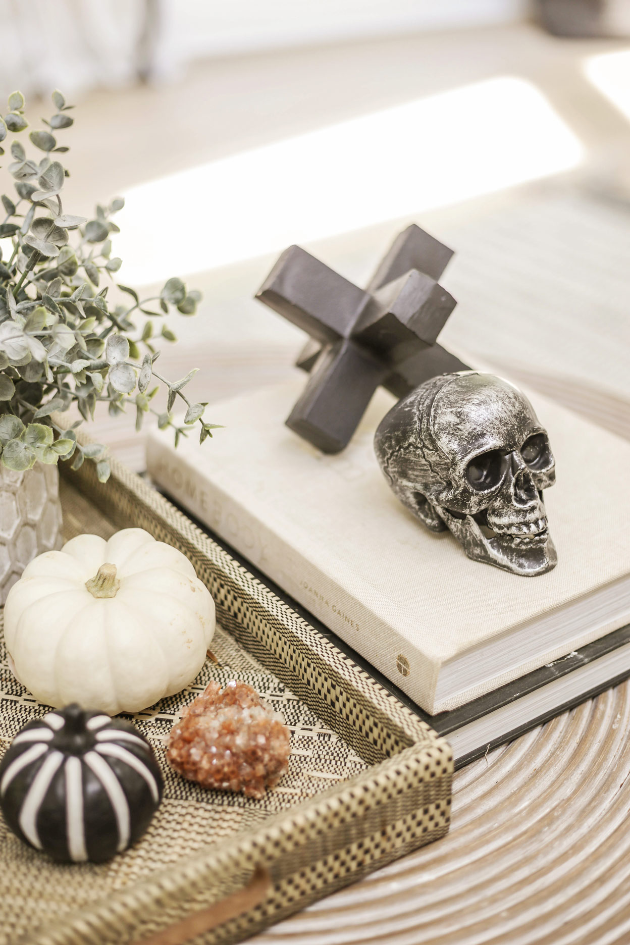 modern chic halloween decor home tour