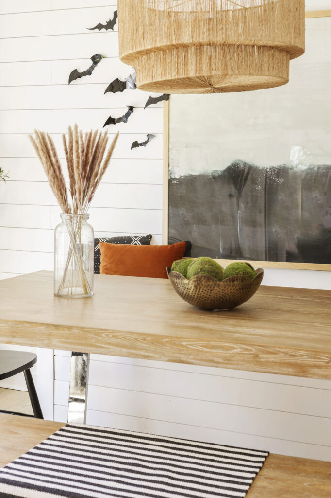 modern chic fall and halloween decorating inspiration