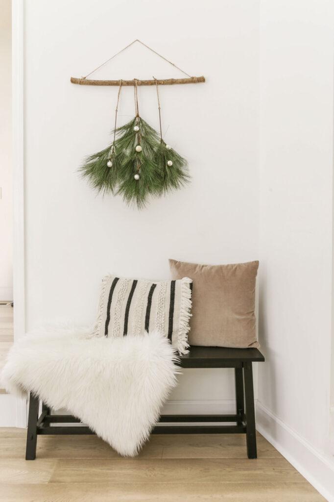 diy christmas tree boho wall hanging