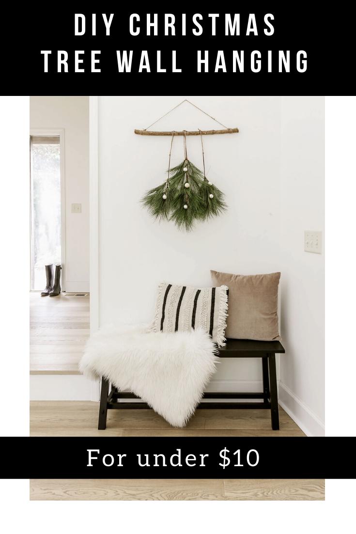 Diy Christmas Tree Boho Wall Hanging Easy Holiday Craft Tutorial