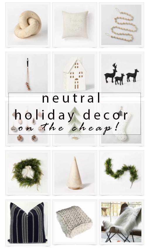 neutral holiday decor inspiration