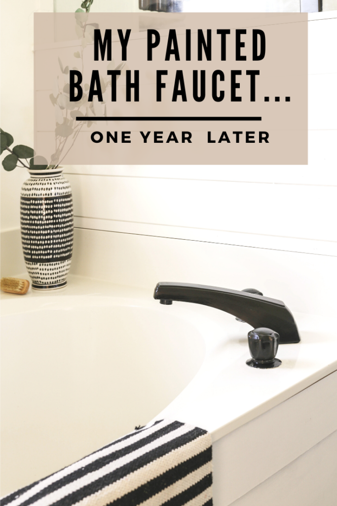 one year review of my painted faucet