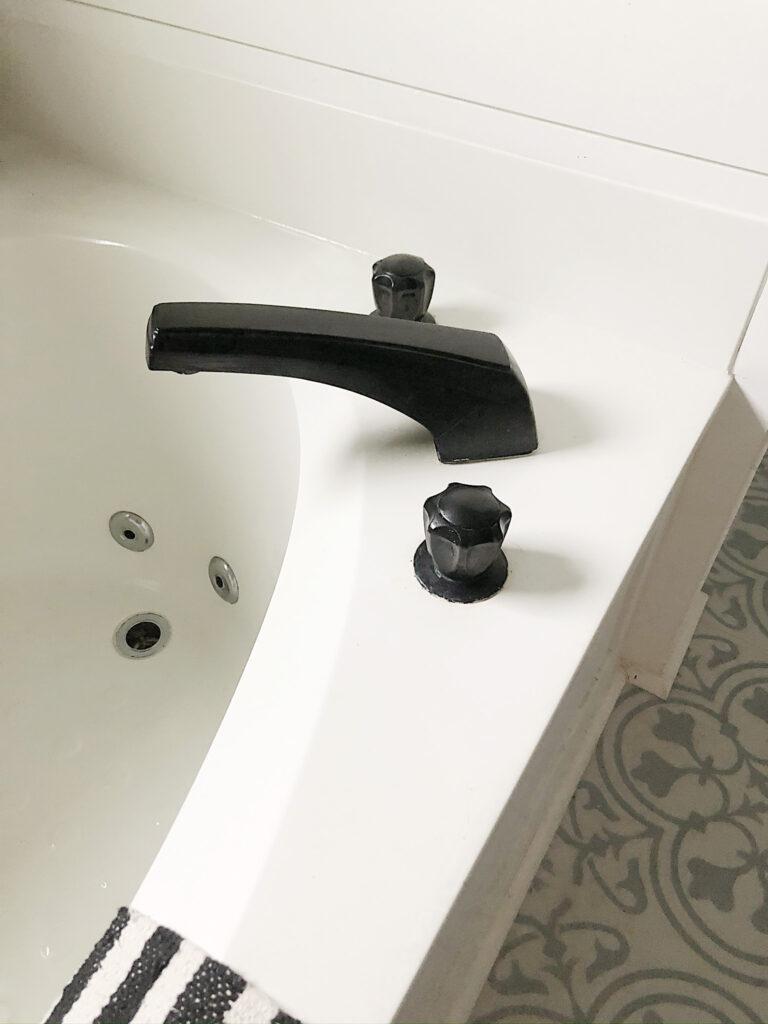 my painted matte black faucet review
