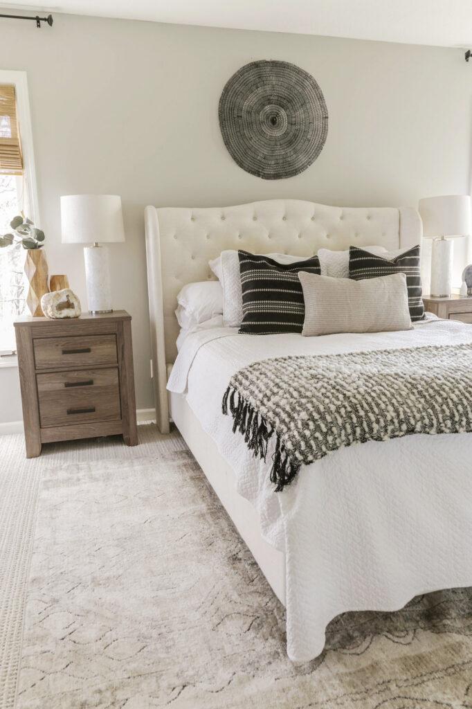 boho chic neutral bedroom