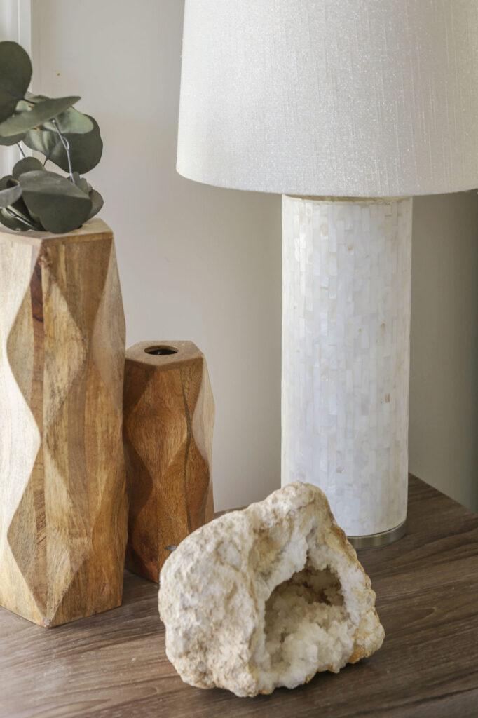 organic modern nightstand styling