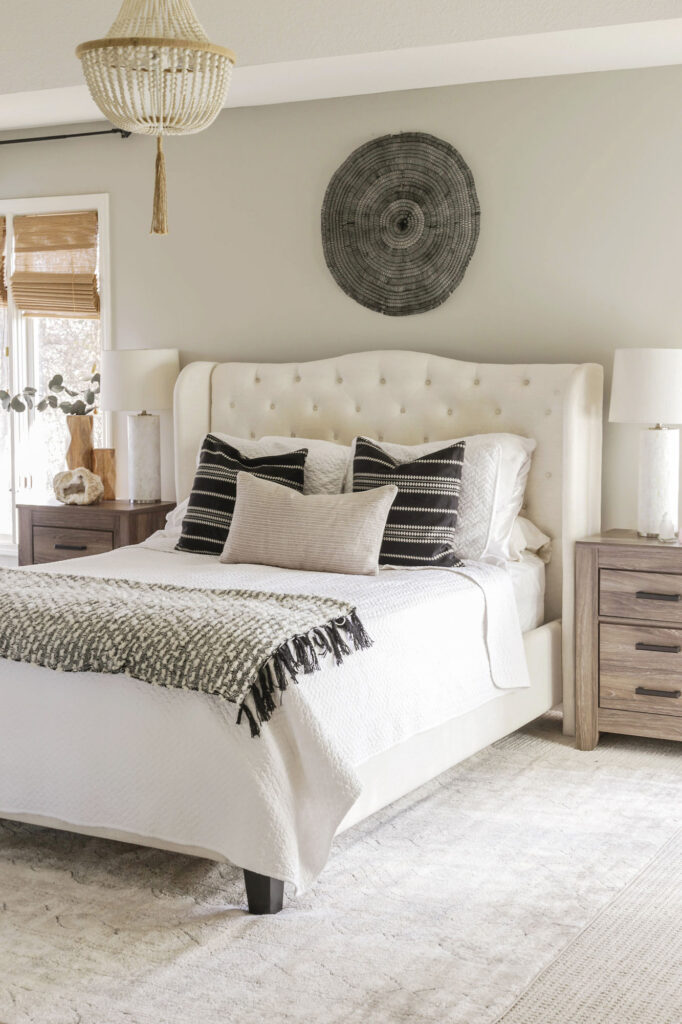 soft neutral boho bedroom