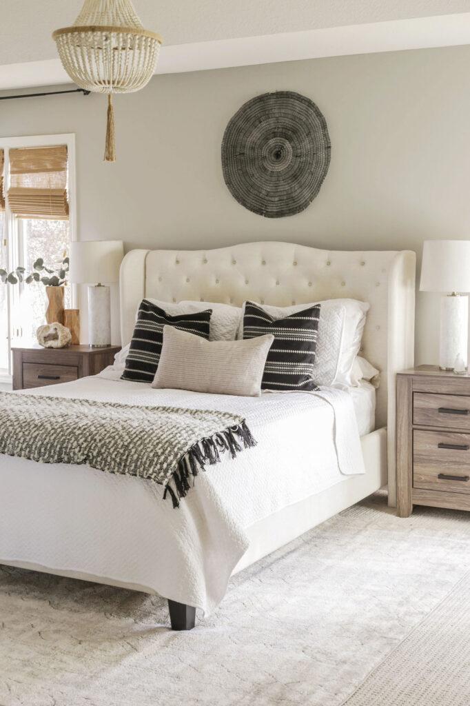 soft neutral boho bedroom