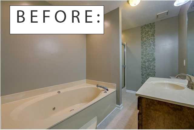 painted bath tub before