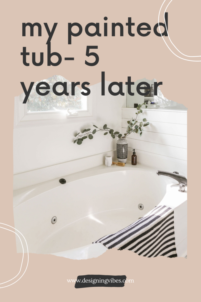 painted bath tub review