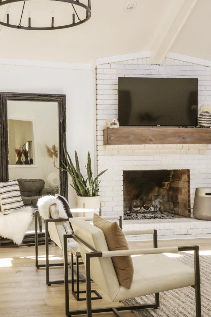 boho modern living room makeover