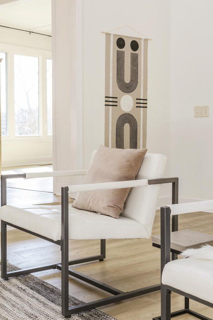 boho chic minimalist living room