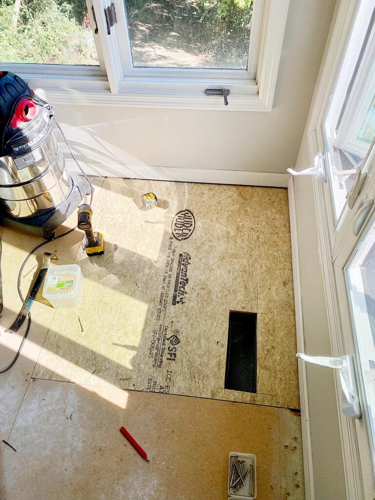 easy subfloor replacement