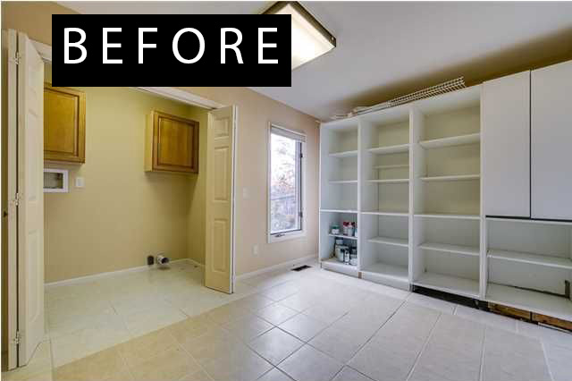 mudroom before makeover