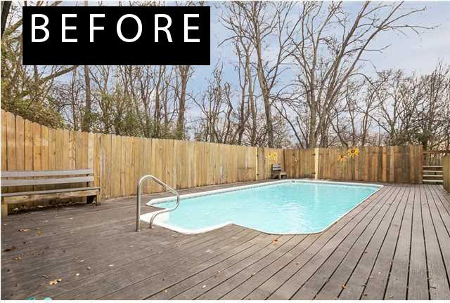 pool before remodel
