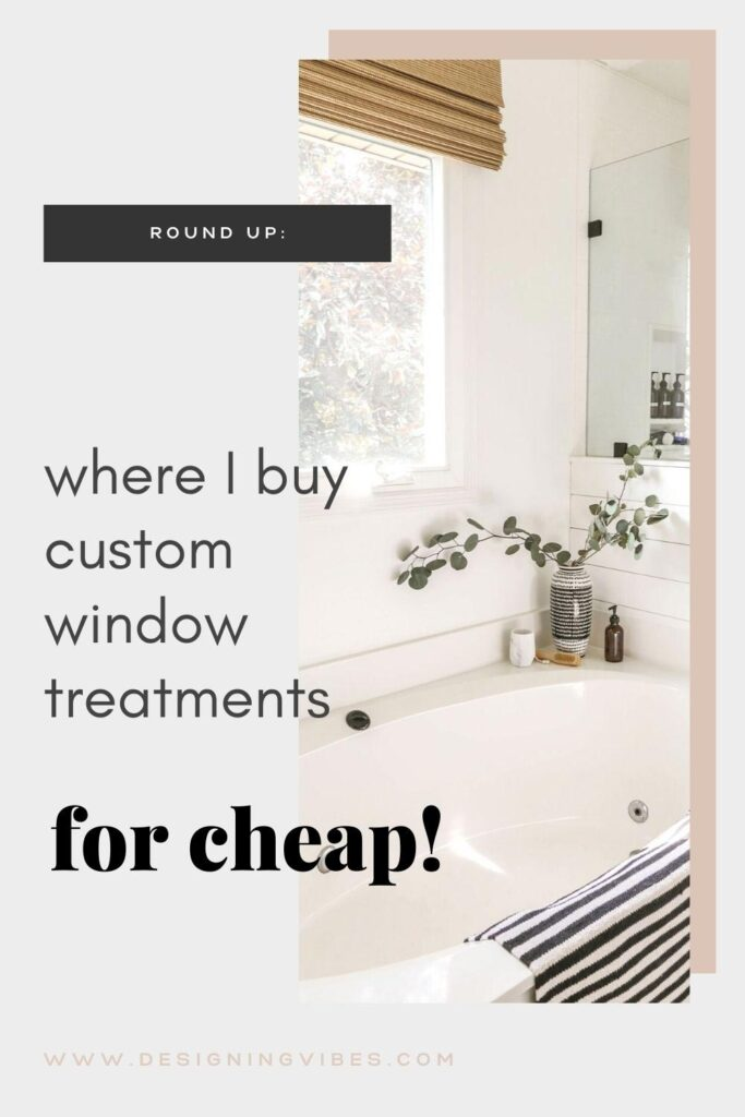 where to buy window treatments for cheap