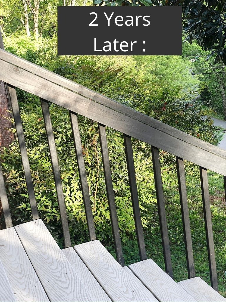 gel stain on wood deck rails review