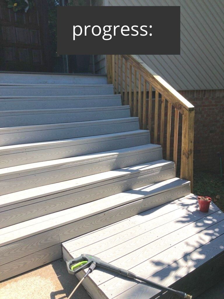 how to gel stain deck and stair rails