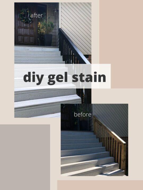 DIY Gel Stain Deck Railing Makeover