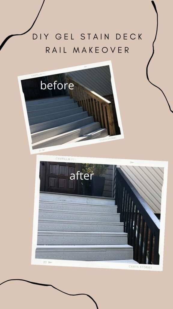 how to gel stain wood deck rails black