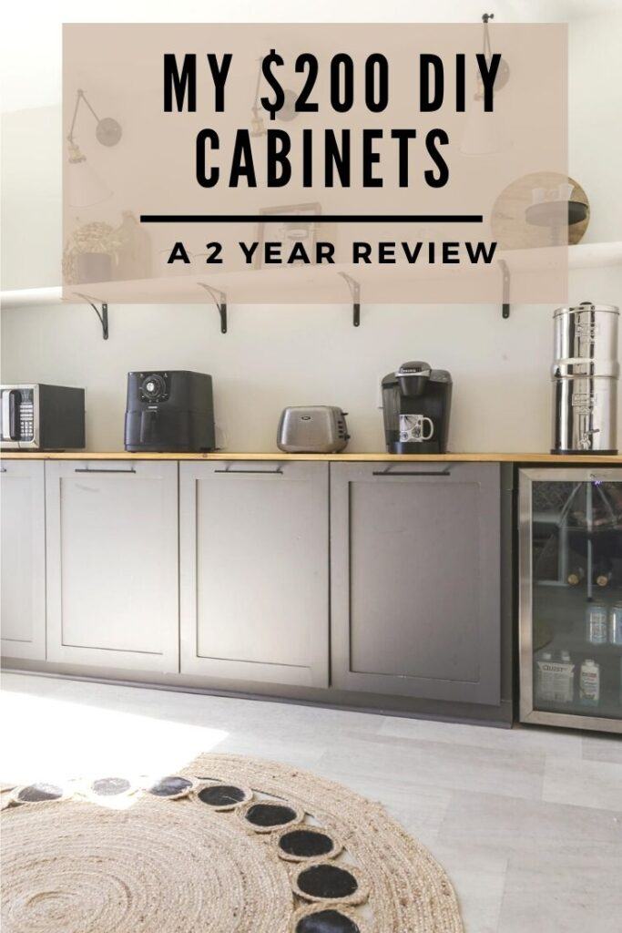 a review of my diy kitchen cabinets