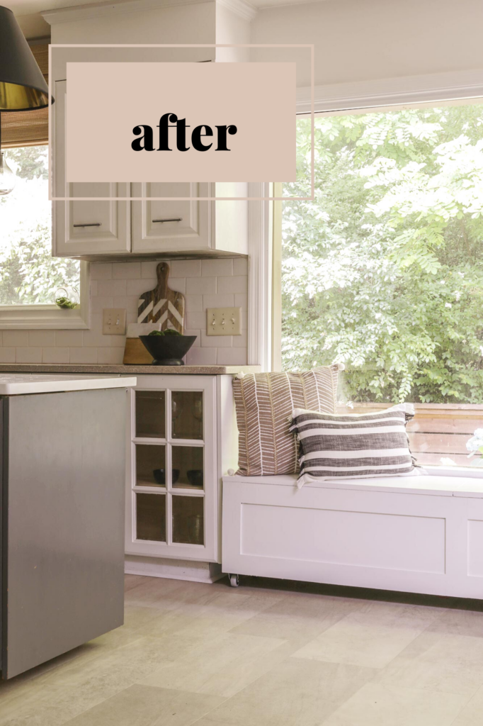 how to build a window seat with storage in your kitchen