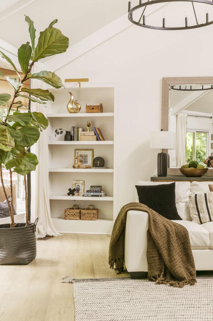 neutral modern farmhouse living room