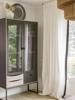 black display cabinet modern