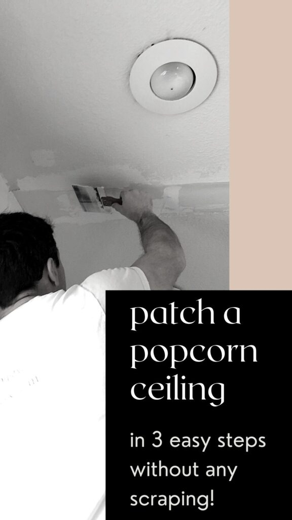 how to patch a popcorn ceiling diy tutorial