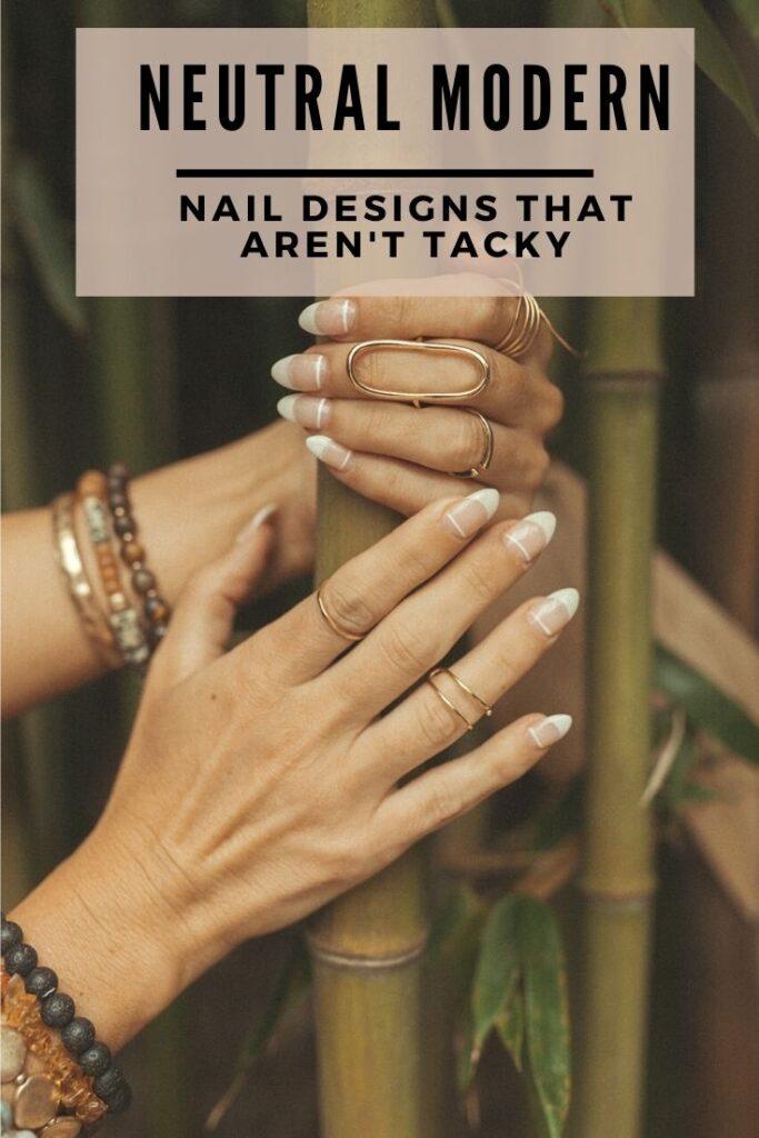 neutral modern nail design ideas