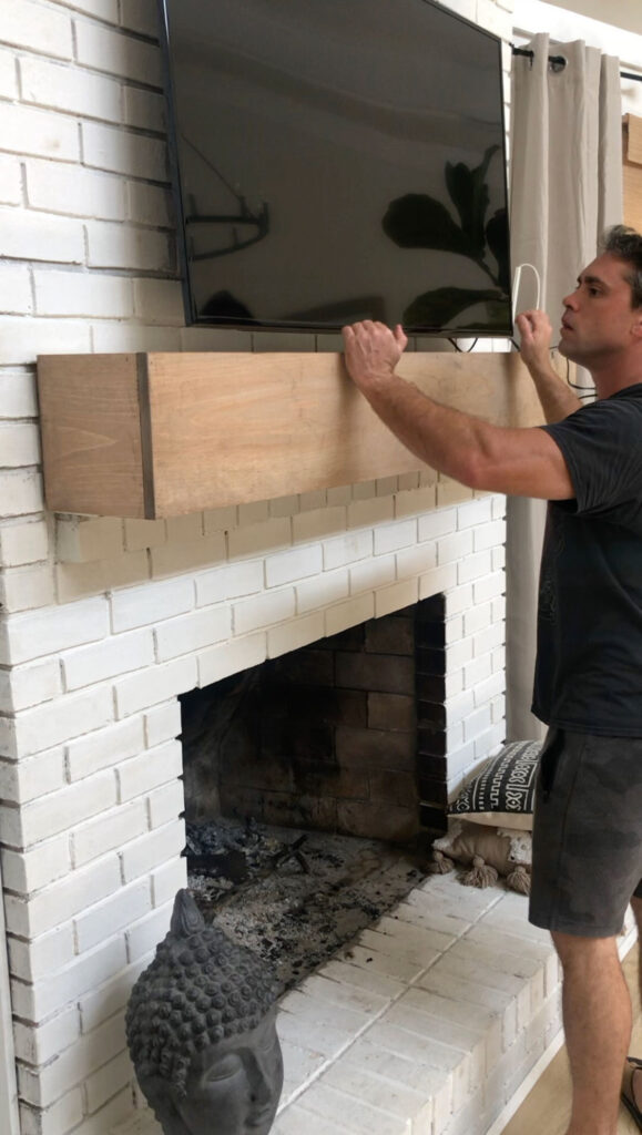 how to stain pine to look like an oak beam