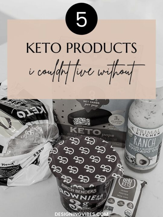 5 Keto Products I Couldn't Live Without